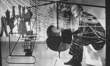'One of the great works of art of the 20th century' ... Marcel Duchamp with The Bride Stripped Bare by Her Bachelors, Even. Photograph: Mark Kauffman/Time & Life Pictures/Getty Image (From: http://www.theguardian.com/artanddesign/jonathanjonesblog+books/fiction)