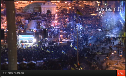 #Euromaidan now - about 6 am Kyiv time